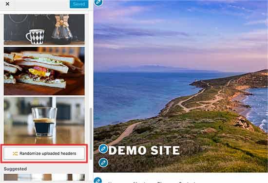 Рандомизация изображений заголовка
