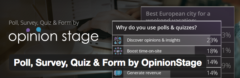 Poll, Survey, Quiz & Form by OpinionStage