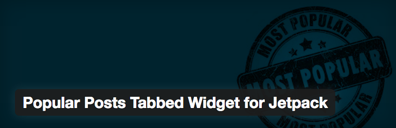 Popular Posts Tabbed Widget for Jetpack