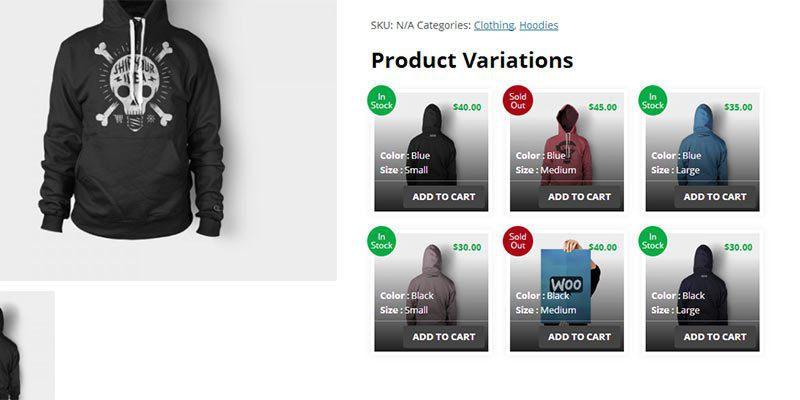 Плагин WooCommerce Product Variations Layouts