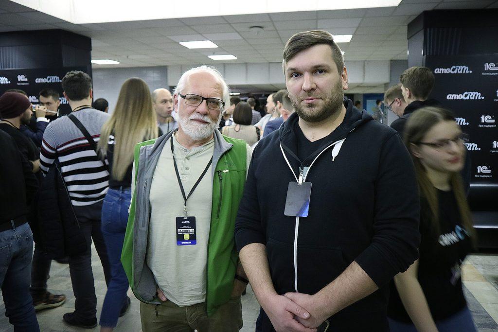 Андрей Себрант с Алексеем Исаенко на #амоконф